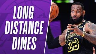 """""""What A Play"""" LeBron's BEST Long Distance Dimes As A Laker!"""