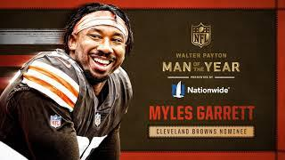 Myles Garrett named Cleveland Browns 2020 Walter Payton Man of the Year | Cleveland Browns