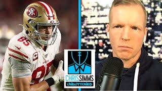 George Kittle wants to improve on deep routes (FULL INTERVIEW) | Chris Simms Unbuttoned | NBC Sports