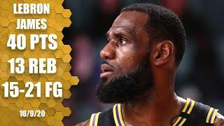 LeBron James' 40 & 13 not enough to clinch fourth title in Game 5 vs. Heat | 2020 NBA Finals