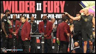 Wilder and Fury scream insults at each other from a distance during final FACE OFF