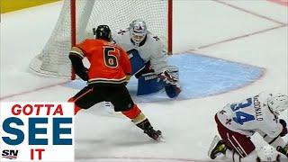 GOTTA SEE IT: Troy Terry Dangles Around Avalanche Defence Before Undressing Hunter Miska