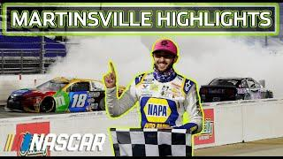 Chase Elliott wins, Harvick turns Kyle Busch : Martinsville Speedway Extended Highlights | NASCAR