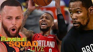 Steph Curry, Kevin Durant Lost Their MINDS Watching Damian Lillard Go CRAZY In Career High Game