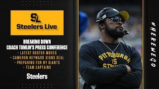 Steelers Live (Sept. 8): Tomlin's press conference, Steelers roster moves, preparing for Giants