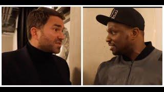 'I TOLD HIM OFF & HE S*** HIMSELF' -WHEN EDDIE HEARN & DILLIAN WHYTE HAD IT OUT IN AWKWARD INTERVIEW