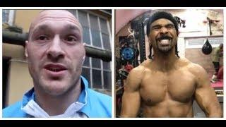'I HEARD DAVID HAYE GOT DONE IN SPARRING, WHY WOULD YOU SPAR A WEEK BEFORE?' - TYSON FURY ON HAYE