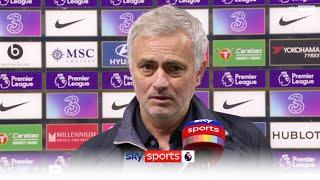 """""""I am happy that we are NOT happy""""   Jose Mourinho reacts to Spurs going top after Chelsea draw"""