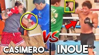 CASIMERO vs INOUE SPARRING, TRAINING SIDE BY SIDE- HEAVY BAG, PADS, STRENGTH AND CONDITIONING