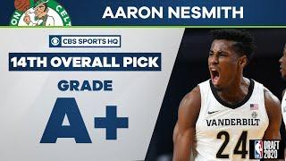 Boston Celtics select Aaron Nesmith with the 14th overall pick | 2020 NBA Draft | CBS Sports HQ