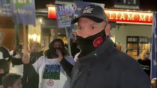 TYSON FURY CONFRONTS PUB IN MORECAMBE, LEADS TRAVELLER LIVES MATTER MARCH THROUGH MORECAMBE STREETS