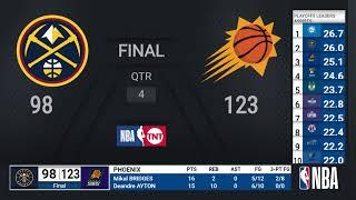 Nuggets @ Suns WCSF Game 2 | NBA Playoffs on TNT Live Scoreboard