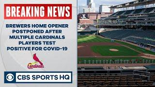 Cardinals have positive coronavirus tests, game vs. Brewers postponed | MLB News