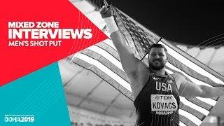 Men's Shot Put Interviews | World Athletics Championships Doha 2019