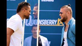 JUGGERNAUT! - JOE JOYCE v MICHAEL WALLISCH HEAD-TO-HEAD w/ SAFETY SCREEN @ OUTDOOR PRESS CONFERENCE
