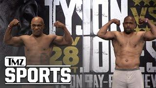 Mike Tyson Strips Down and Flexes at Weigh In for Roy Jones Jr Fight, Ripped at 54! | TMZ Sports