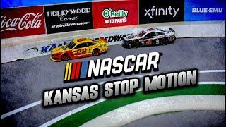Logano and Harvick battle in stop motion | Stop Motion NASCAR from Kansas Speedway