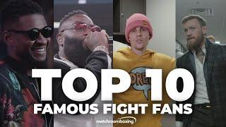 Top 10 famous fight fans at Matchroom Boxing events