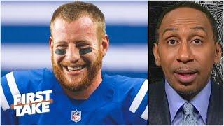 The Eagles agree to trade Carson Wentz to the Colts | First Take reacts