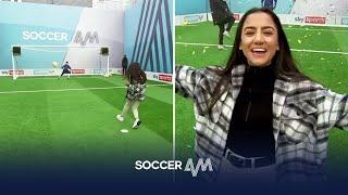 PIN-POINT PENALTY!  | Rosie & Mollie Kmita play to win money for charity! | Soccer Am Pro Am