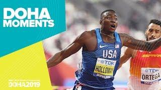Grant Holloway's Hurdles Gold | World Athletics Championships 2019 | Doha Moments
