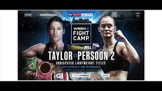 BREAKING NEWS: KATIE TAYLOR vs DELFINE PERSOON 2 ANNOUNCED FOR FIGHT CAMP!