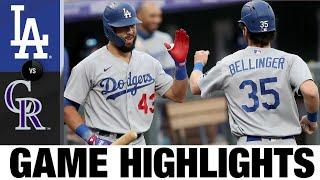 Chris Taylor, Clayton Kershaw lead Dodgers to win | Dodgers-Rockies Game Highlights