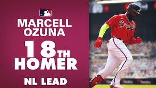 Braves' Marcell Ozuna SMASHES 18th home run to sit atop NL HR leaderboard!