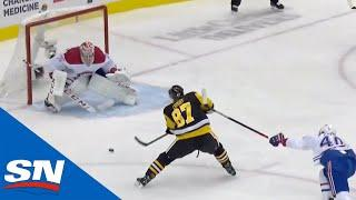 Sidney Crosby Slides Puck Five-Hole to Give Penguins Early Lead