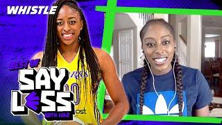 How This WNBA Star Got Her Start Interviewing MASCOTS  | Say Less With Kaz
