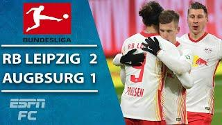 No Dayot Upamecano as RB Leipzig beats Augsburg | ESPN FC Bundesliga Highlights