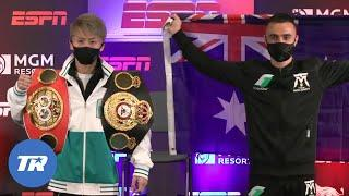 Naoya Inoue & Jason Moloney come face to face before Unified Title Fight | PRESS CONFERENCE FACEOFF