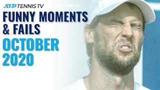 Funny ATP Tennis Moments & Fails: October 2020