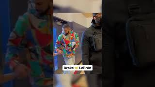 Drake pulled up with LeBron to watch Bronny's playoff game  #Shorts