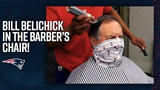 Bill Belichick in the Barber's Chair for Charity | New England Patriots