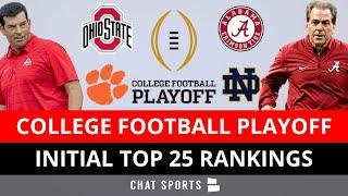 College Football Playoff Rankings: 2020 Initial Top 25 - Ohio State's Shocking Ranking, Alabama #1