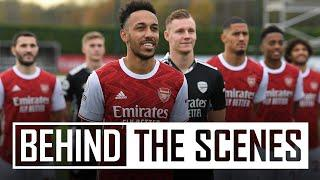PHOTOCALL DAY AT COLNEY   Behind the scenes at Arsenal training centre