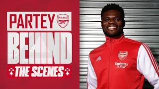 Partey meets Aubameyang & Lacazette   Behind the scenes on Thomas' first day at Arsenal