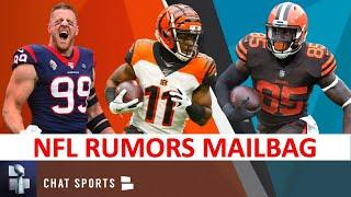 NFL Trade Rumors Mailbag: John Ross Destinations + JJ Watt, David Njoku, Leonard Williams & OBJ