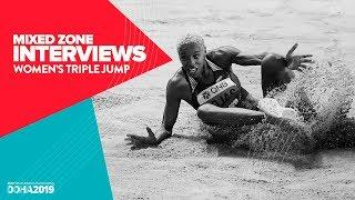 Women's Triple Jump Interviews | World Athletics Championships Doha 2019