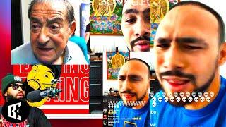 (REACTION) Keith Thurman TEARS UP Terence Crawford Promoter Arum