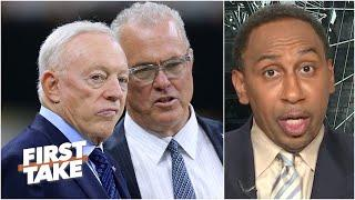 Stephen A. gets fired up about Stephen Jones' quarterback comments | First Take