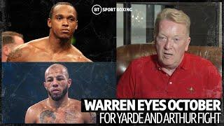 "Warren: Yarde v Arthur would be ""something special"""