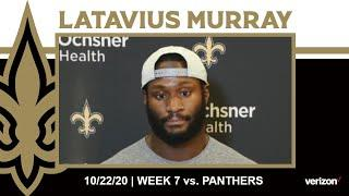 Latavius Murray on Staying Prepared, Panthers Defense | Saints vs. Panthers Week 7 2020