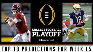 Week 15 College Football Playoff Predictions: Notre Dame grabs key win | CBS Sports HQ