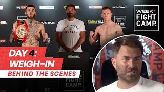 Fight Camp: Week 1, Day 4 - Eggington vs Cheeseman (Behind The Scenes) Weigh-In
