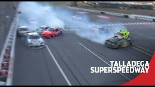Eleven cars involved in late wreck at Talladega Superspeedway | NASCAR