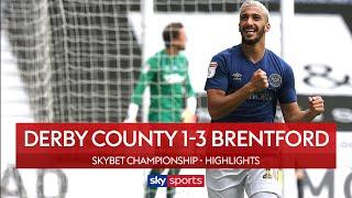 Benrahma wonder goal seals Bees win! | Derby 1-3 Brentford | EFL Highlights