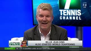 Tennis Channel Live: Celebrating Billie Jean King For Pushing For Equal Pay In Women's Tennis