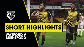 WATFORD V BRENTFORD | TROY DEENEY & IVAN TONEY GOALS | SHORT HIGHLIGHTS